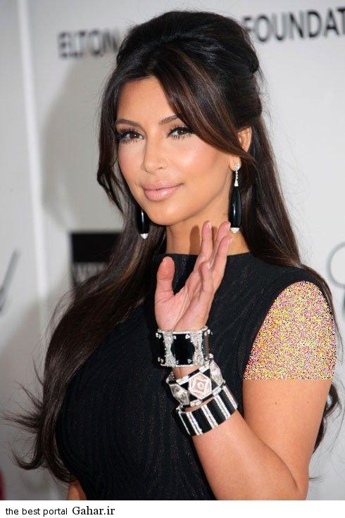 kimkardashianbraclate06 کلکسیون دستبندهای کیم کارداشیان در مراسم مختلف