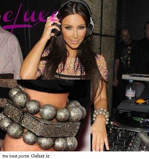 kimkardashianbraclate07 کلکسیون دستبندهای کیم کارداشیان در مراسم مختلف