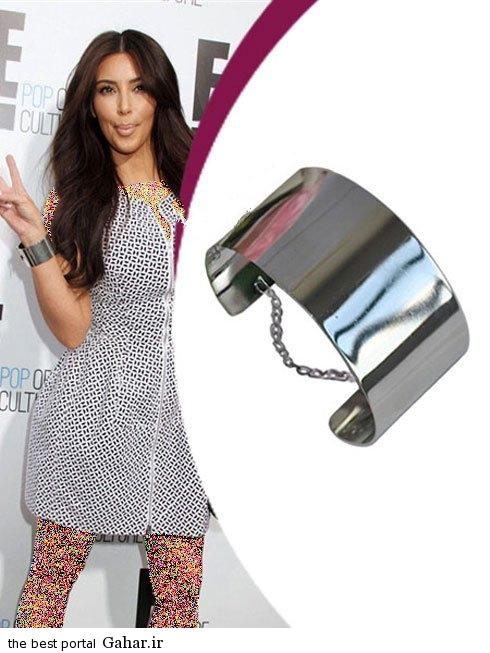 kimkardashianbraclate08 کلکسیون دستبندهای کیم کارداشیان در مراسم مختلف