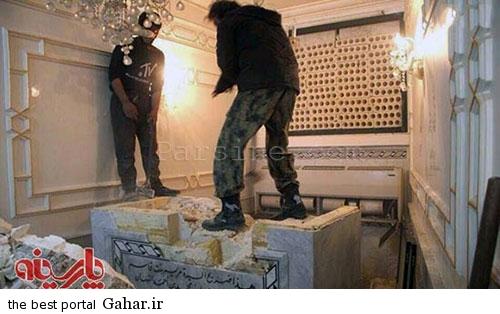 nabshe ghabr نبش قبر نوه امام هفتم توسط داعش / عکس