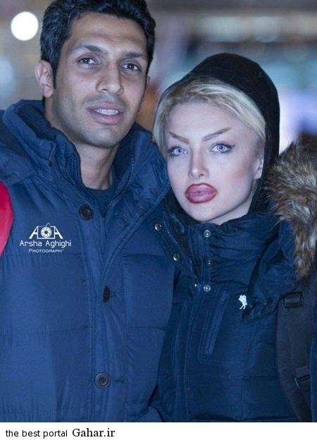 new sepehr heydari and his wife photo عکس جدید سپهر حیدری و همسرش با تیپ متفاوت
