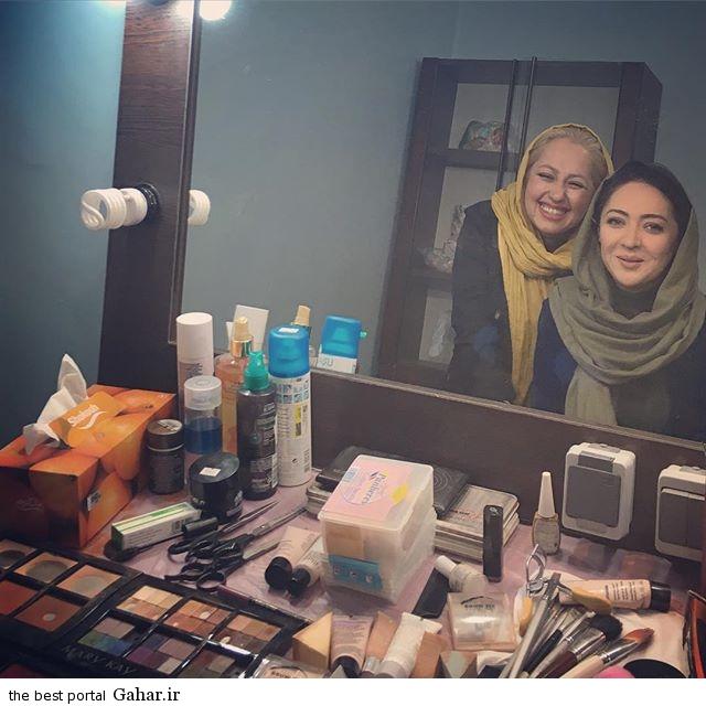 niki عکس جدید نیکی کریمی در کنار آرایشگرش