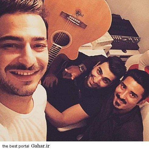 reza2 عکس جدید رضا قوچان نژاد در کنار دو خواننده لس آنجلسی