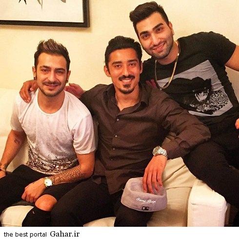 reza3 عکس جدید رضا قوچان نژاد در کنار دو خواننده لس آنجلسی