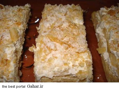 shirini طرز تهیه شیرینی ناپلئونی با خمیر هزارلا در خانه