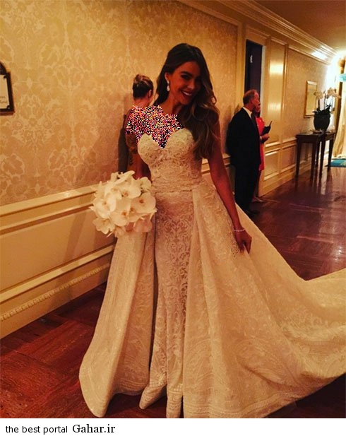 sofiavetrgaraweddinddress05 عکس های جدید سوفیا ورگارا در لباس عروس رویایی اش