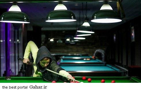 spectacular images of the girl genius billiards iran5 اکرم محمدی امینی نابغه بیلیارد و اسنوکر /عکس