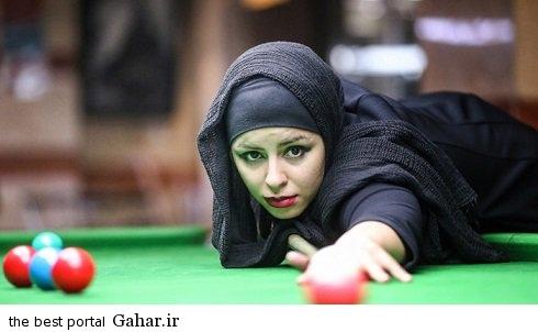 spectacular images of the girl genius billiards iran copy اکرم محمدی امینی نابغه بیلیارد و اسنوکر /عکس