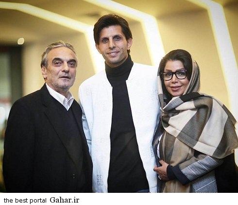 vahid taleblu and his wife at the premiere of a film عکس وحید طالب لو و همسرش در اکران یک فیلم