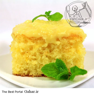 cacke طرز تهیه کیک با طعم سون آپ و روکش آناناس
