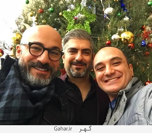 ehsaankaramy عکس های بازیگران ایرانی در کنار درخت کریسمس + پیام تبریک