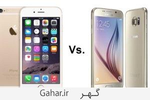 iPhone 6 vs Samsung Galaxy S6 image معرفی پرطرفدارترین و بهترین گوشی های هوشمند
