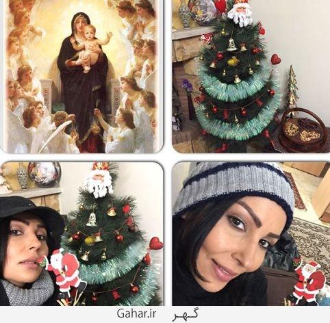 parastoosalehi1 copy عکس های بازیگران ایرانی در کنار درخت کریسمس + پیام تبریک