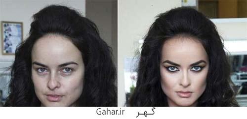 rusian girl 2 عکس دختران روسی قبل و بعد آرایش !