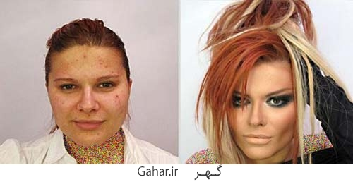 rusian girl 4 عکس دختران روسی قبل و بعد آرایش !