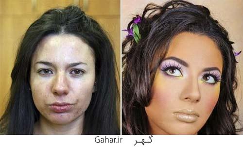rusian girl 5 عکس دختران روسی قبل و بعد آرایش !