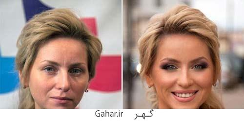 rusian girl 6 عکس دختران روسی قبل و بعد آرایش !