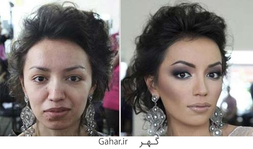 rusian girl 7 عکس دختران روسی قبل و بعد آرایش !
