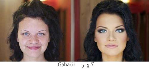 rusian girl 8 عکس دختران روسی قبل و بعد آرایش !