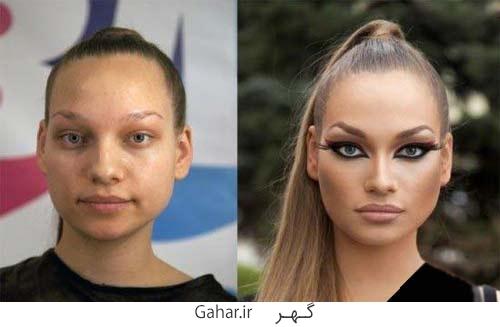 rusian girl 9 عکس دختران روسی قبل و بعد آرایش !