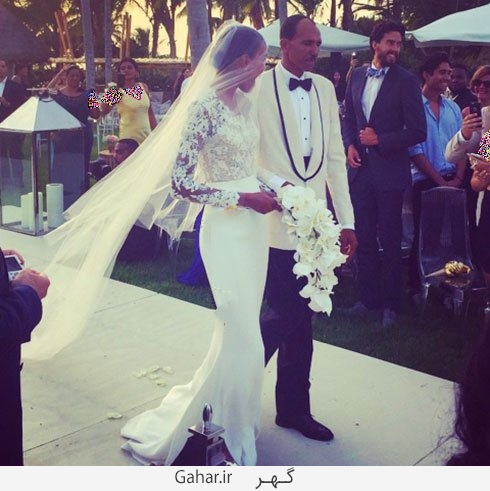 arlenis sosa عکس هایی از لباس عروس هنرمندان هالیوودی