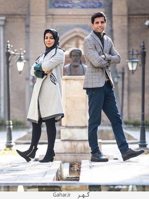 interesting gesture and her husband vahid taleblu copy عکس جدید وحید طالب لو و همسرش با ژست متفاوت
