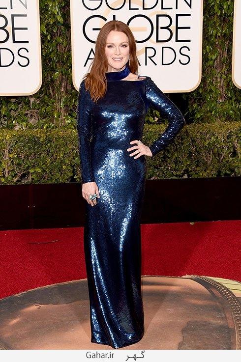julianne moore in tom ford مدل لباس بازیگران هالیوودی در مراسم گلدن گلوب 2016