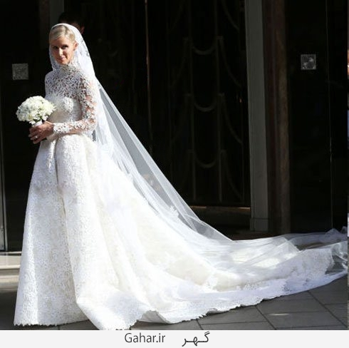 nicki hilton عکس هایی از لباس عروس هنرمندان هالیوودی