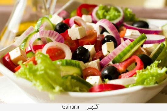 salad طرز تهیه سالاد یونانی بسیار ساده و البته رژیمی