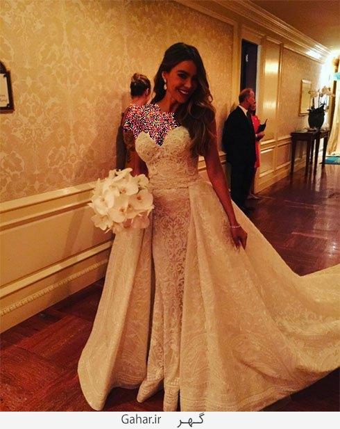 sofia vergara عکس هایی از لباس عروس هنرمندان هالیوودی