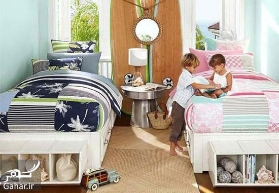 000716 Gahar ir دکوراسیون اتاق مشترک فرزندان در خانه های کوچک