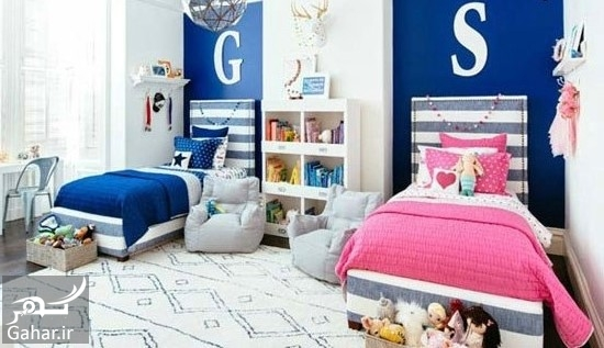 100253 Gahar ir دکوراسیون اتاق مشترک فرزندان در خانه های کوچک