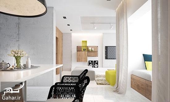 106668 Gahar ir راهنمای دکوراسیون داخلی آپارتمان با رنگ های متفاوت