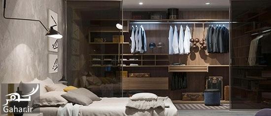 163836 Gahar ir مدل های دکوراسیون اتاق خواب در کنار کمد دیواری