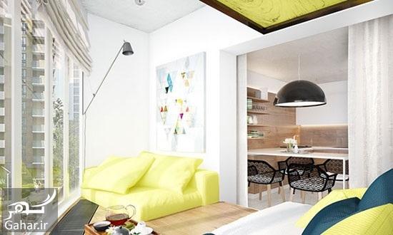 205091 Gahar ir راهنمای دکوراسیون داخلی آپارتمان با رنگ های متفاوت