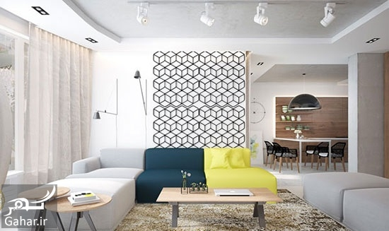 535941 Gahar ir راهنمای دکوراسیون داخلی آپارتمان با رنگ های متفاوت