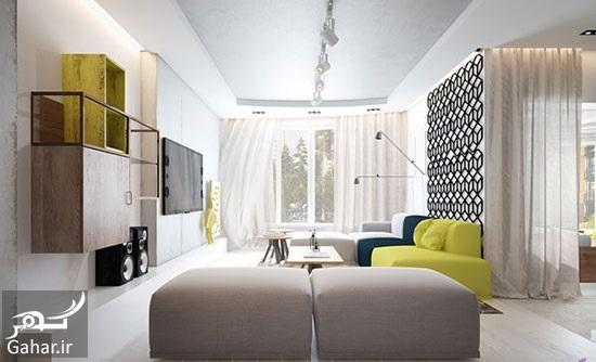 545441 Gahar ir راهنمای دکوراسیون داخلی آپارتمان با رنگ های متفاوت