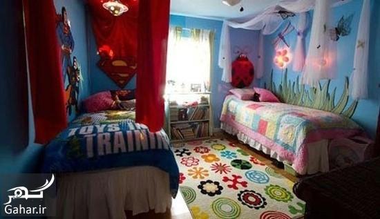 902791 Gahar ir دکوراسیون اتاق مشترک فرزندان در خانه های کوچک