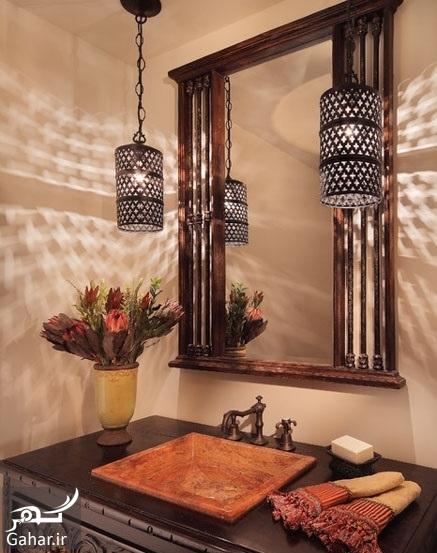 chidaneh 44371 mediterranean powder room پیشنهاداتی برای نورپردازی مناسب در دکوراسیون منزل