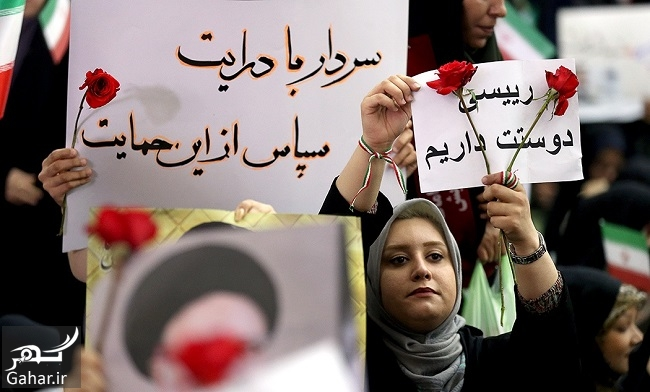 133500 Gahar ir عکس های همایش حامیان رئیسی در مصلی تهران