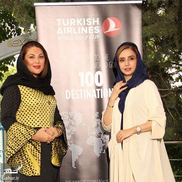 159205 Gahar ir عکس/ تیپ متفاوت بازیگران در مسابقات گلف در تهران