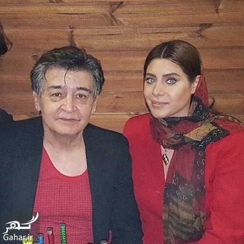 343241 Gahar ir رضا رویگری و همسر جوانش تارا کریمی در رستوران ؛ عکس