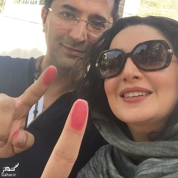 365561 Gahar ir عکس جالب شیلا خداداد و همسرش پس از رای دادن