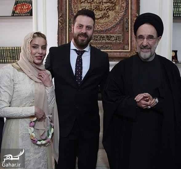 366012 Gahar ir عکس شیما محمدی و همسرش در کنار سید محمد خاتمی