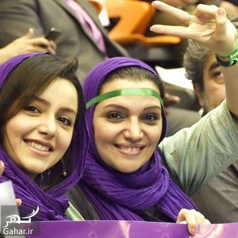 491288 Gahar ir عکس دو بازیگر معروف در همایش حامیان روحانی