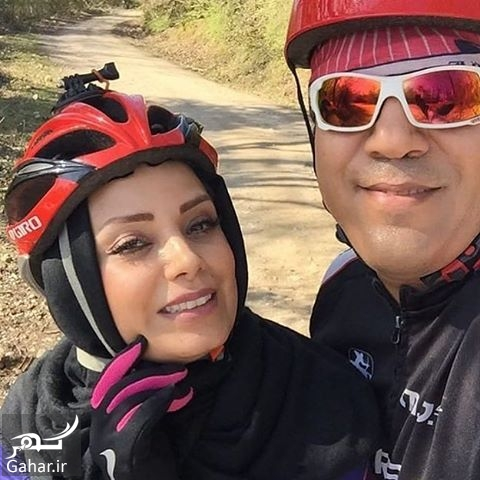 597911 Gahar ir عکس/ دوچرخه سواری صبا راد و همسرش مانی رهنما