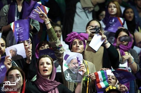 603191 Gahar ir عکس های همایش زنان و دختران حامی روحانی در تهران