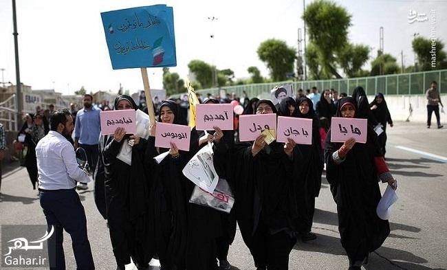 699561 Gahar ir عکس های همایش حامیان رئیسی در مصلی تهران