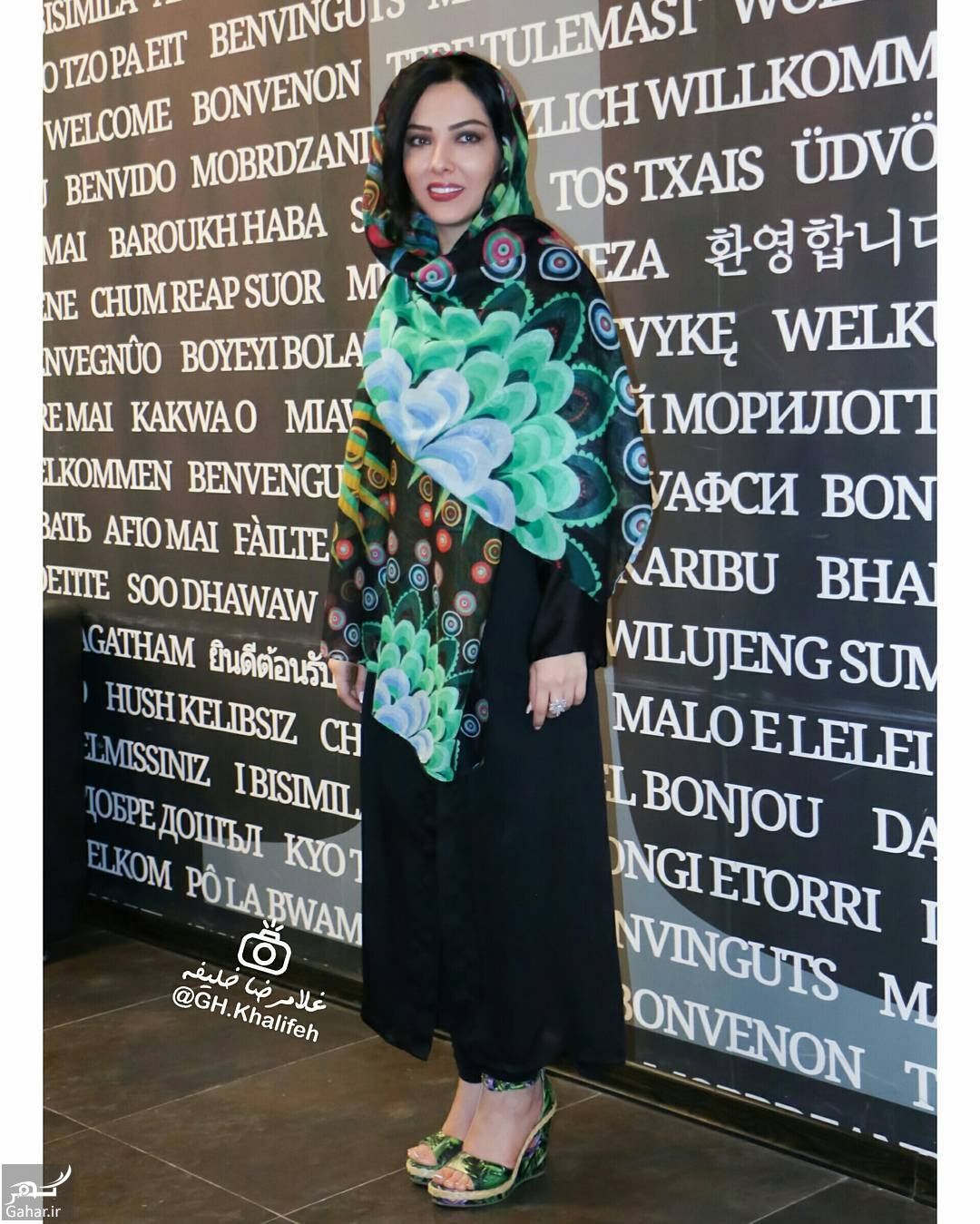 807921 Gahar ir عکس/ تیپ متفاوت لیلا اوتادی در مراسم افتتاحیه فیلم «آشوب»