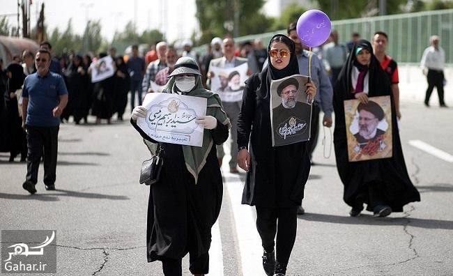 913676 Gahar ir عکس های همایش حامیان رئیسی در مصلی تهران